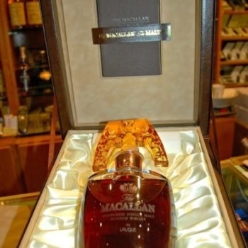 продать виски Macallan-Lalique-Crystal-Decanter